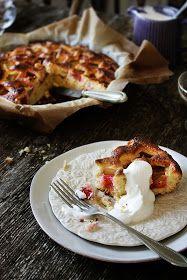 Rhubarb, orange cake (bilingual, all measurements in metric) - Pratos e Travessas: Bolo de ruibarbo e laranja #