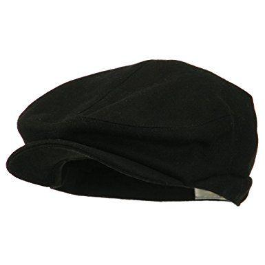 86514aa380595 Big Men s Wool Blend Ivy Cap – Black (For Big Head) Review