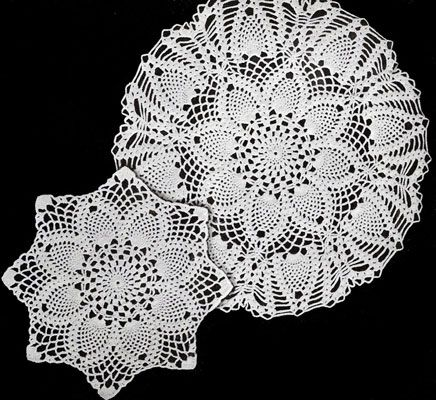 Perfect Thread Crochet Doily Patterns Pattern Easy Scarf Knitting