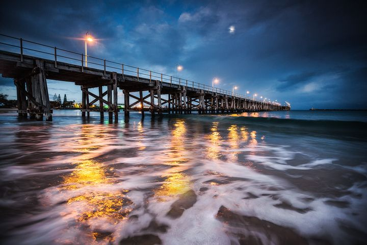 Light Up The Sea : Coffs Harbour Jetty - Mid North Coast - New South Wales, Australia