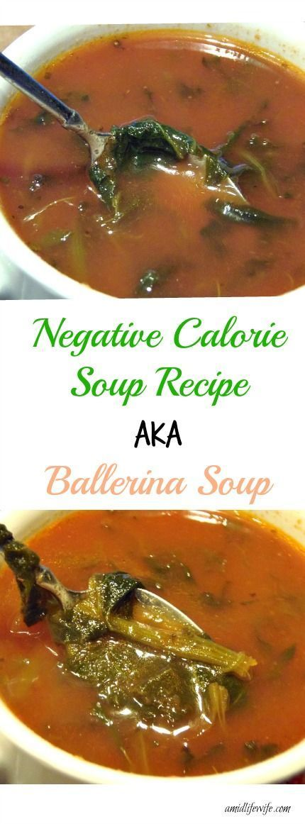 Negative Calorie Soup Recipe aka Ballerina Soup | AMidlifeWife.com