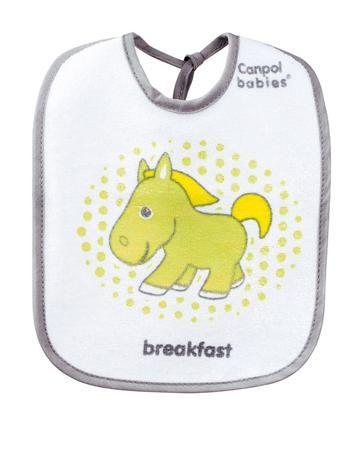 Canpol Babies Желтая лошадка 3 шт  — 338р. --------------------- Нагрудник Canpol Babies Желтая лошадка в комплекте из 3 штук. Верхний слой - мягкая ткань, нижний - клеенка. Фиксируется завязками.