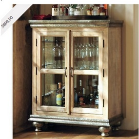 perfect for creating an athome bar pottery barn serena bar cabinet