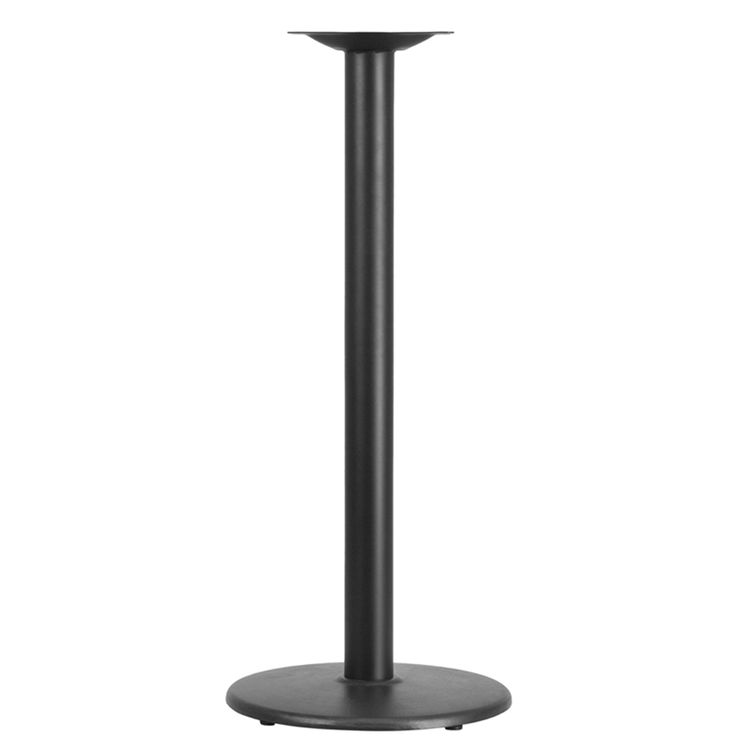 "18"" Round Restaurant Table Base with 3"" Dia. Bar Height Column at ModaSeating.com"