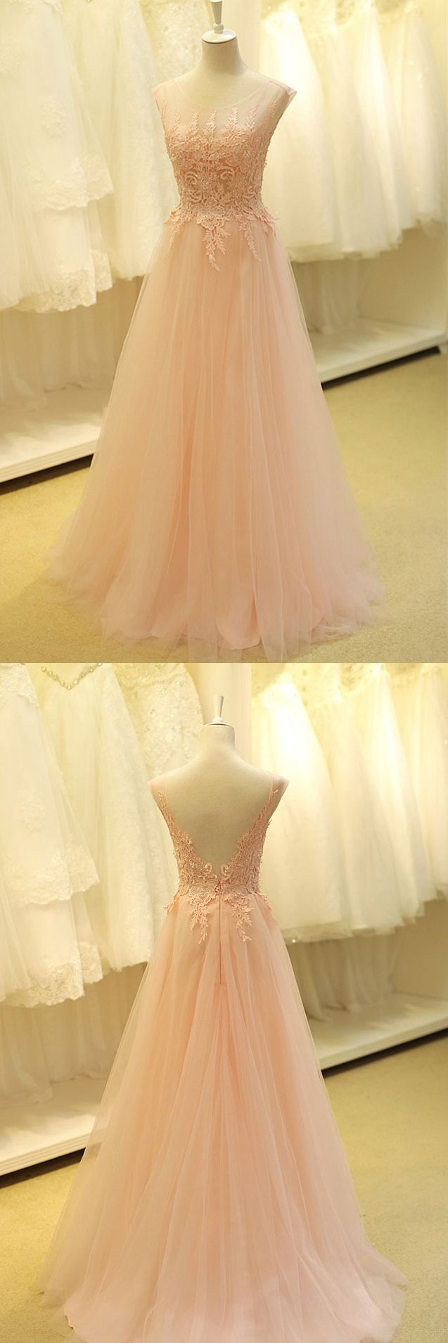 Real Made Prom Dress, Charming Formal Dresses,A-Line Appliques Evening Dresses, ST06