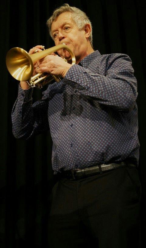 Theo Hartman performing on cornet.