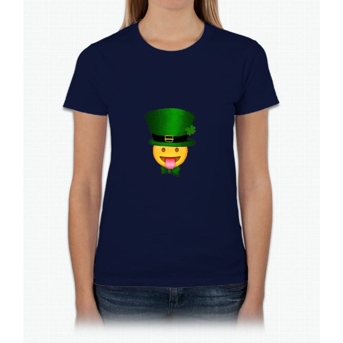 Tongue emoji leprechaun Womens T-Shirt