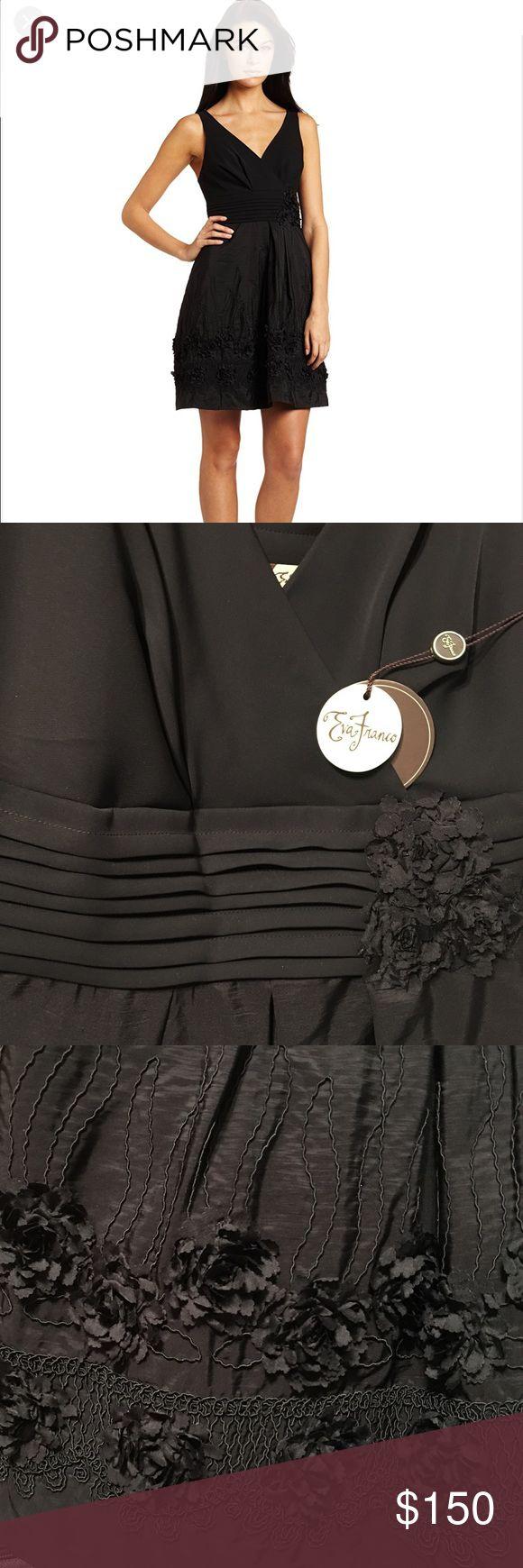 Eva Franco Marilyn dress- size 6 NWT beautiful Eva Franco embroidered dress. Black size 6. Stunning details. Eva Franco Dresses Mini