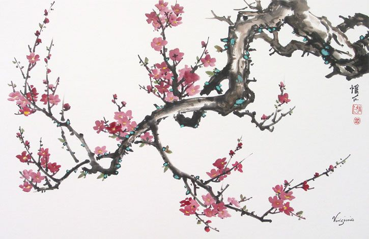 birds on a plum painting | Chinese Brush Paintings