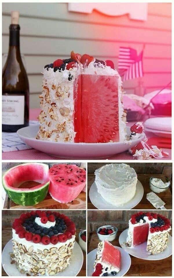 Wassermelonen kuchen rezept