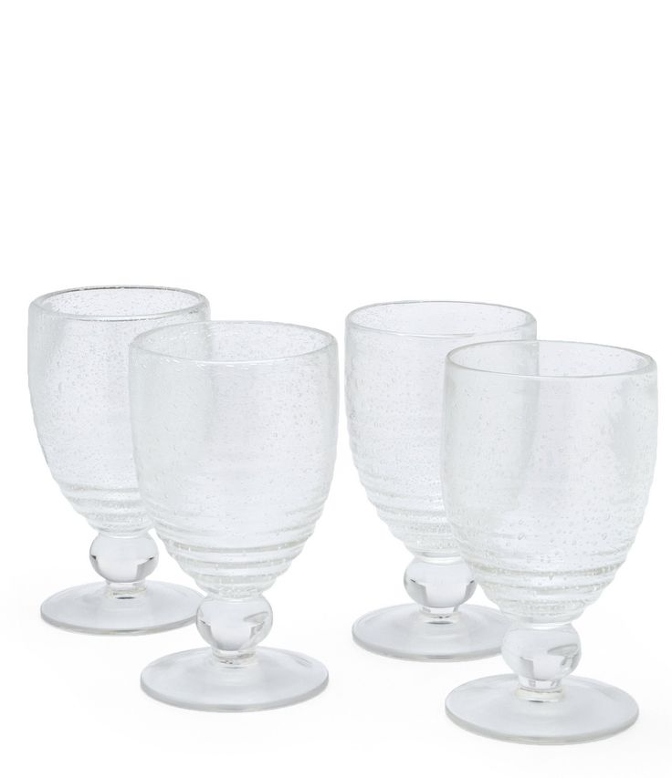 Southern Living Bubbled Ribbed Soda Lime Goblets Set of 4 #Dillards