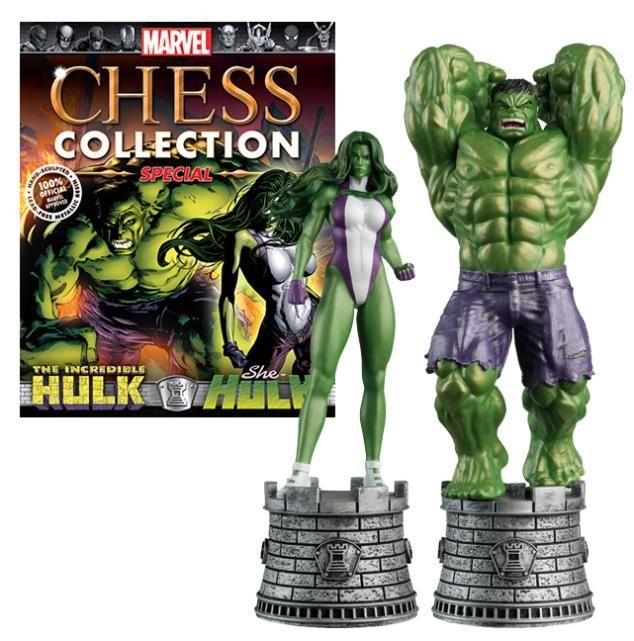 The Incredible Hulk & She-Hulk | Marvel Chess Collection | Eaglemoss Collections