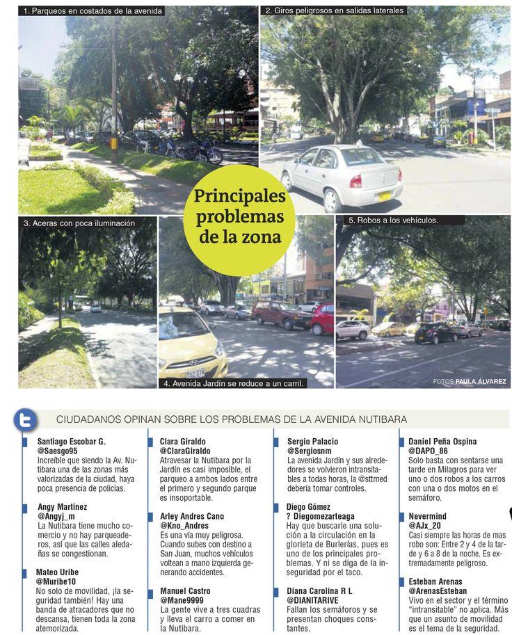 Caos e inseguridad en la Nutibara El crecimiento comercial sobre la avenida Nutibara y vías aledañas, ha incrementado el flujo vehicular conconsecuencia de caos e inseguridad.