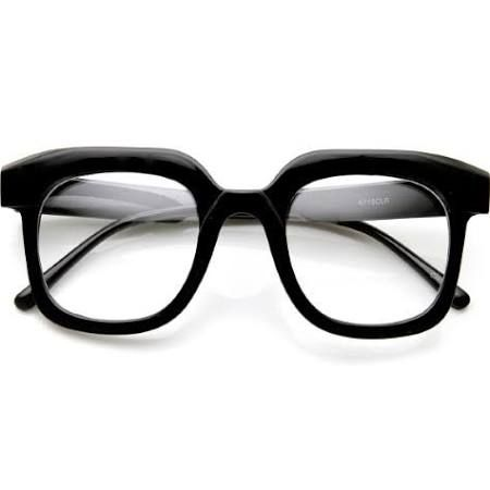 extra thick black frame glasses - Google Search
