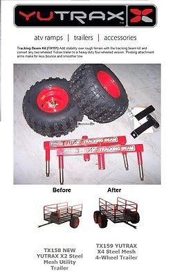 TX191 YUTRAX TRACKING BEAM Utility Tow Cart Trailer Conversion Kit USED SALES
