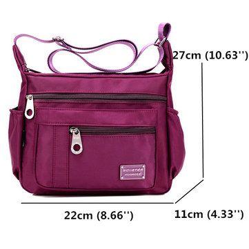 Hot-sale designer Nylon Waterproof Bags Casual Outdoor Sports Lightweight  Shoulder Bags Crossbody Bags For Women Online 94639041bf3f9
