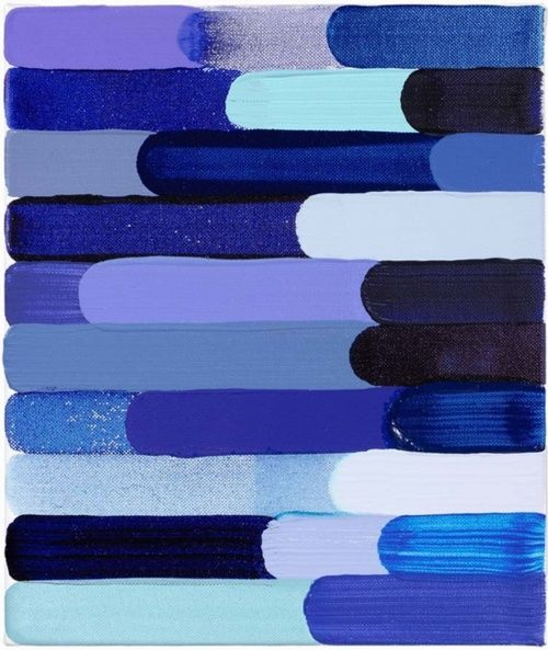 love these different shades all together: Art Paintings, Diy Art, Cobalt Blue, Colors Palettes, Brushes Strokes, Nails Polish, Colors Blue, Diy Projects, Martin Creed