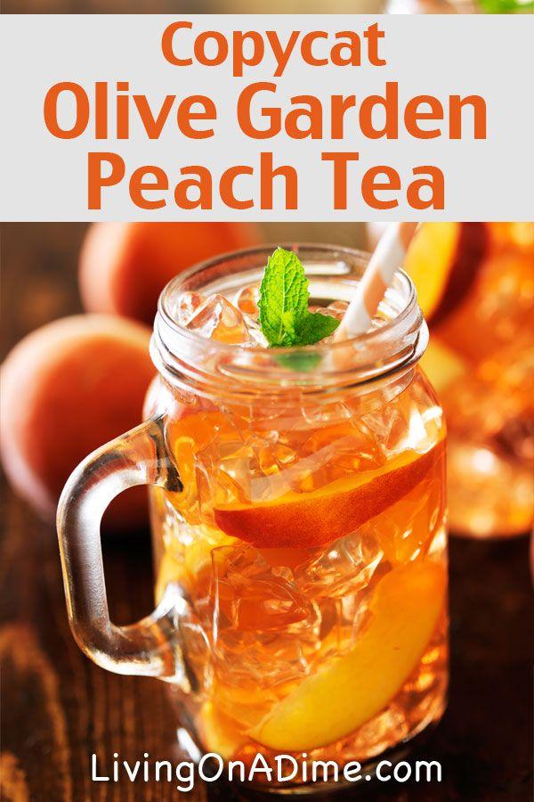 Copycat Olive Garden Peach Tea Recipe - 13 Homemade Flavored Tea Recipes