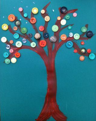 Button Tree for Autumn