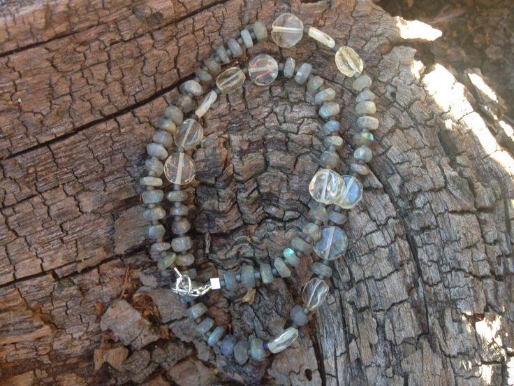 "Labradorite & Citrine ""Double Wrap"" Bracelet by 100PercentBeads on Etsy"