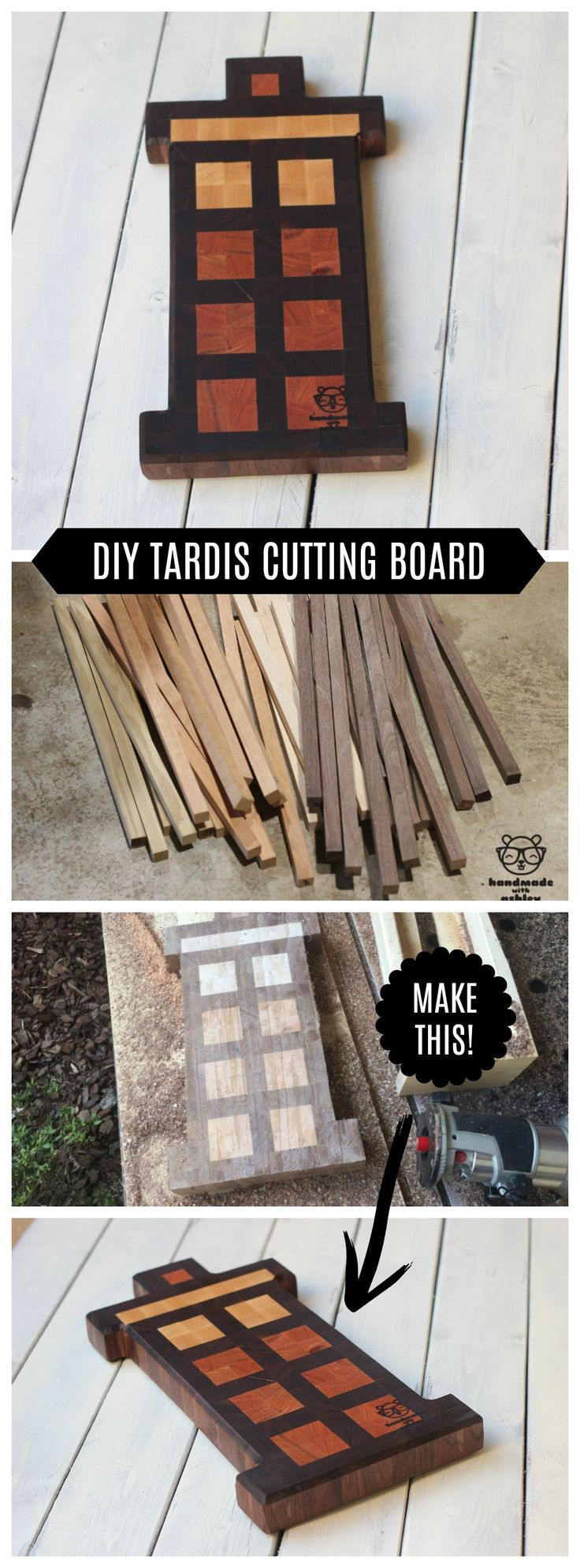 Make your cheese plate simply stunning diy wood slice cutting board - How To Make A Tardis End Grain Cutting Board