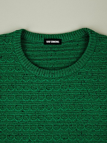 Raf Simons Men's Structure Stitch Knit in green