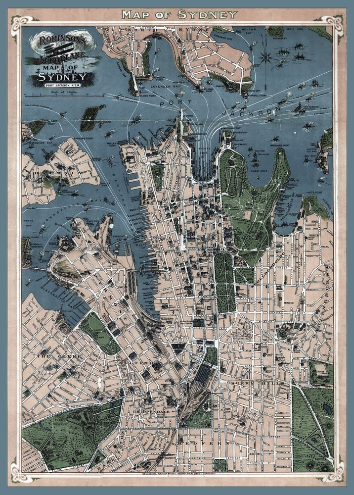 1922 MAP Sydney Australia New South Wales