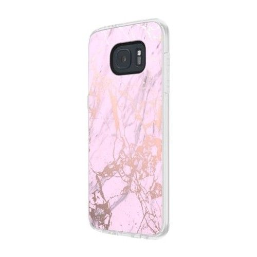 Incipio - Design Series Marble Back Cover for Samsung Galaxy S7 edge - Pink, Rose gold - Alt_View_Standard_2