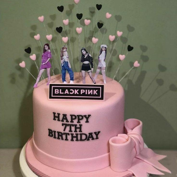 Blackpink Birthday Cake Birthday Occasion Kpop Birthday Blackpink Party In 2020 Bts Cake Birthday Party Cake Birthday Cake