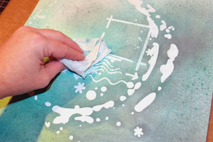 Use Gel Medium through stencils as a resist.  Here is a great tutorial by @Jennimoc using our #TCW605 Elliptic stencil by @RondaPalazzari LIVE A colorful LIFE – Gel Medium and Stencils