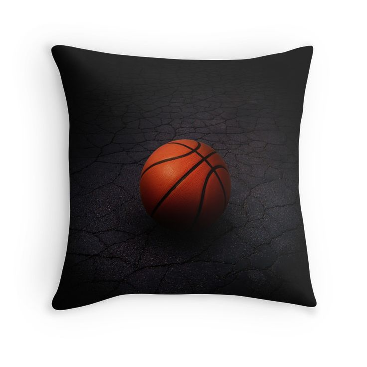 For those that love Basketball, enjoy this lonely basketball on an old basketball court, on this throw pillow.