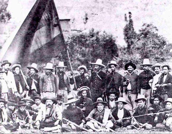 Año1900 Guerra De Los Mil Días Ejercito Conservador y la Batalla De PaloNegro Bucaramanga