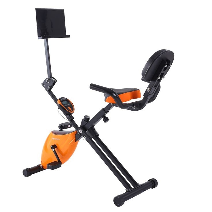 Ancheer Folding Adjustable Magnetic Upright Exercise Bike