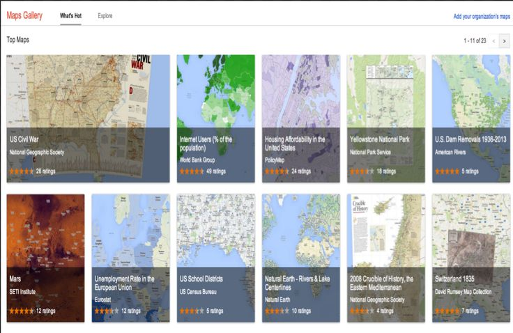 The Google Maps gallery now includes educational maps you can use with your class! How cool is that?