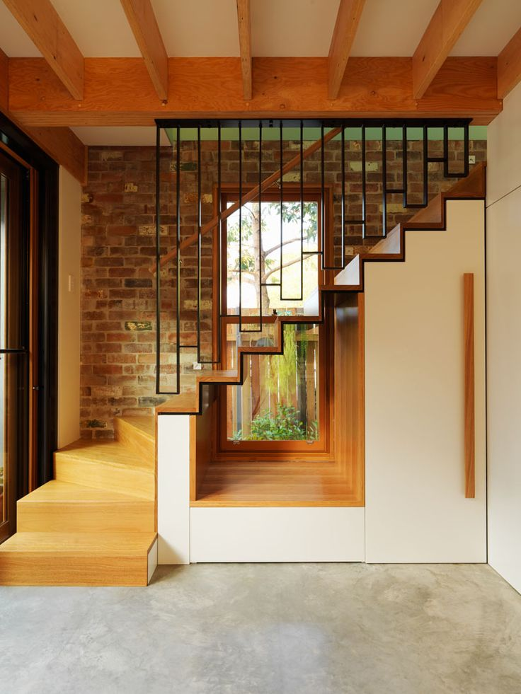 Design Detail - A Cut-Out What Created Underneath The Stairs To Allow Light To Travel Through