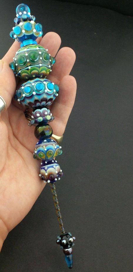 Handmade glass beads and Minarettes by Jennie Lamb, Raspberry Rings.         www.facebook.com/raspberryrings www.raspberryrings.etsy.com