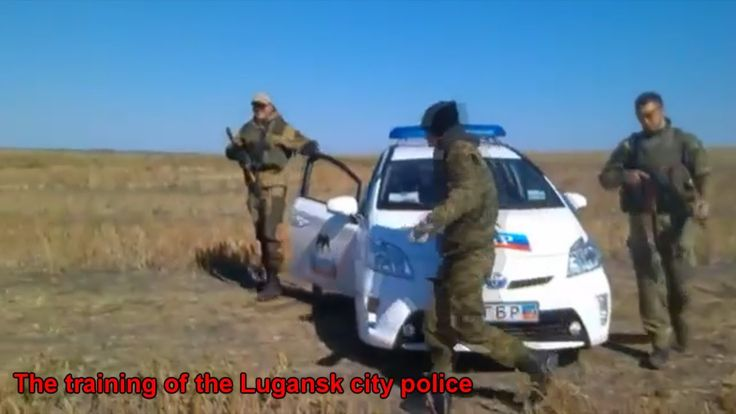 War in Ukraine The training of the Lugansk city police