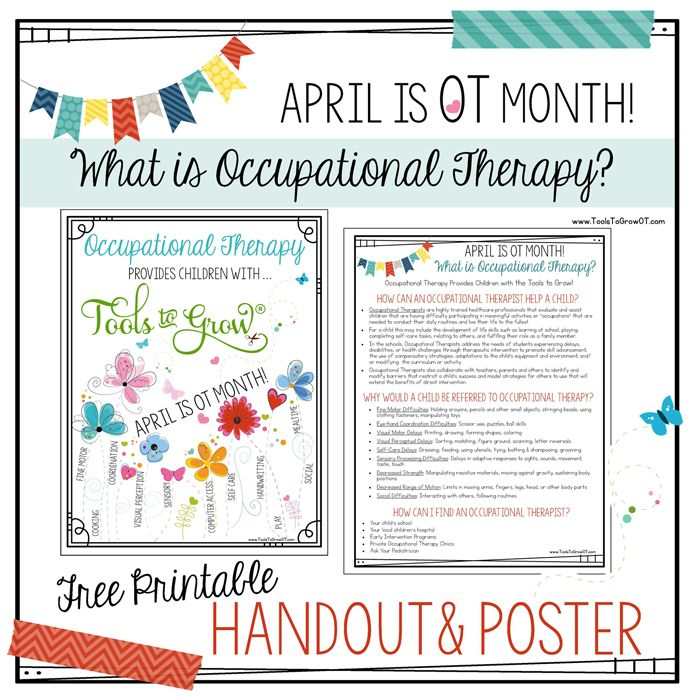 Best Occupational Therapy Month Images On