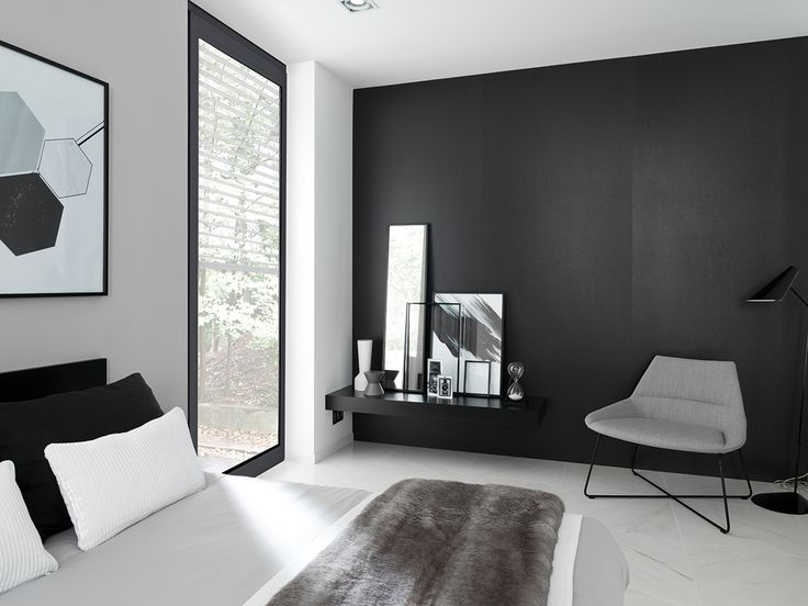 Lo último en tecnología y diseño aplicado al revestimiento cerámico de gran formato #XLIGHT EMOTION. Texturas inspiradas en los papeles 3D con efecto metálico en negro vibrante. Calidad, distinción y elegancia -  #interiorism #blackandwhite #home #bedroom #black #menstyle #interior #design