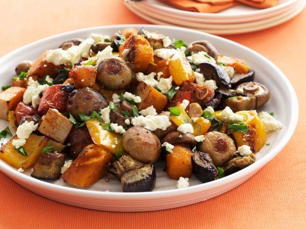 Salade van geroosterde groenten en feta - Libelle Lekker!
