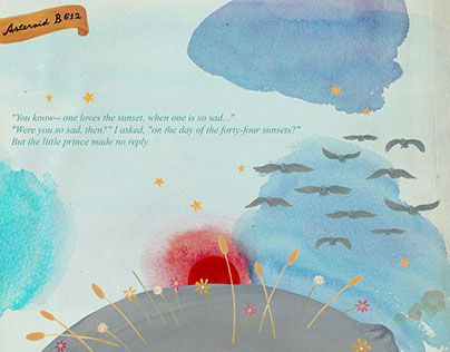 """Check out new work on my @Behance portfolio: """"Ana Sucré : Le Petit Prince (storybook)"""" http://on.be.net/1LHE8Sc"""