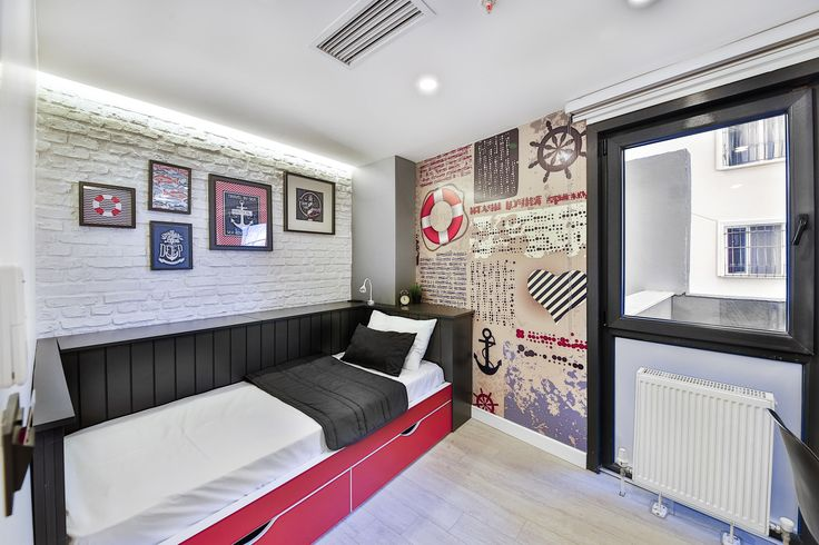vip dormitory room interior with marine concept #rendahelindesign #design  #decor #decoration #interior #interiordesign #vip2 #room #konforist #dorm #male