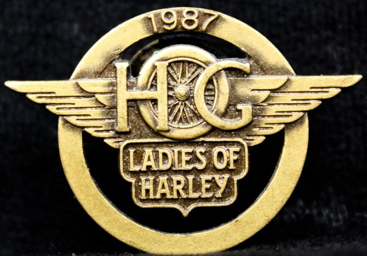 1987 H.O.G Ladies of Harley Davidson Vest Jacket Pin Harley Owners Group LOH HOG