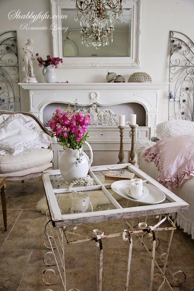 DIY coffee table #vintage #shabbychic #patina