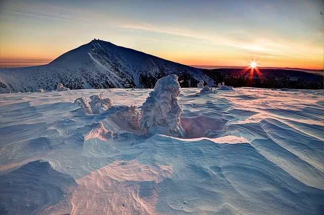 First rays around Sněžka by camelos, via Flickr