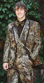 Camouflage-Alpine-Tuxedo.  Book it today for Prom '15 or your over-the-top wedding!
