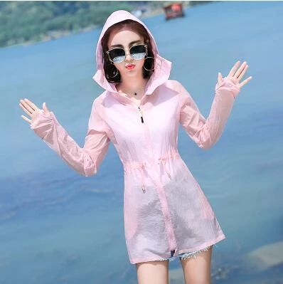 coat women Plus Size 5XL jacket Women Summer Sun Protection Clothing Thin Hooded Womens Windbreaker jacket Beach Coats Female