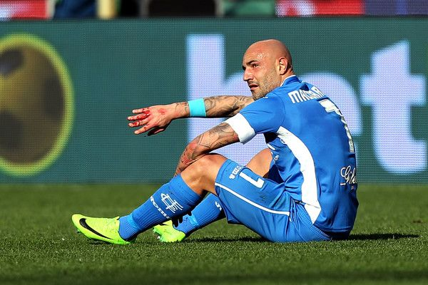Massimo Maccarone of Empoli FC reacts during the Serie A match between Empoli FC and Genoa CFC at Stadio Carlo Castellani on March 5, 2017 in Empoli, Italy.