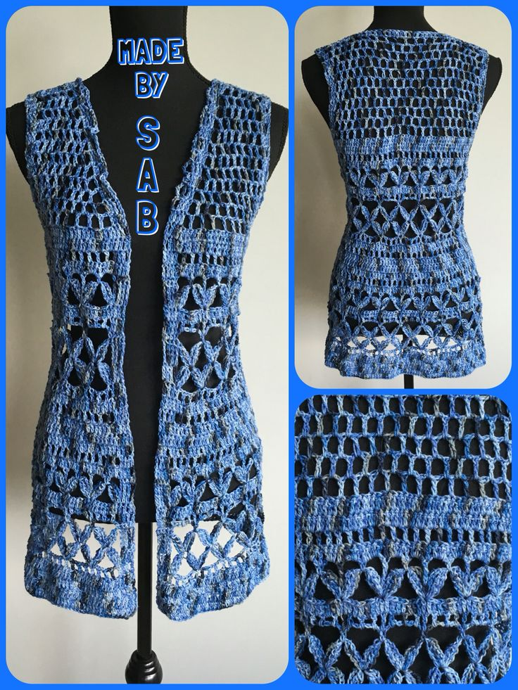 Summer Bliss Vest - jeansblauw Patroon: www.garnstudio.nl Garen: Lammy Rio Multi Haken - Crochet - Summer