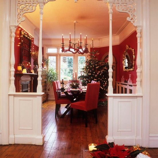 Best 20 cosy christmas ideas on pinterest christmas for Dining room entrance designs